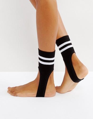 Носки в полоску со штрипками ASOS - Черный