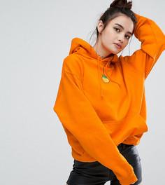 Оверсайз-худи с нашивкой в форме персика Adolescent Clothing - Оранжевый