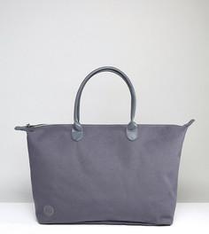 Темно-серая парусиновая дорожная сумка Mi-Pac - Серый