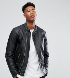 Черная куртка из искусственной кожи ASOS TALL - Черный