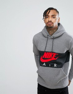 Худи серого цвета через голову Nike Air 863758-091 - Серый