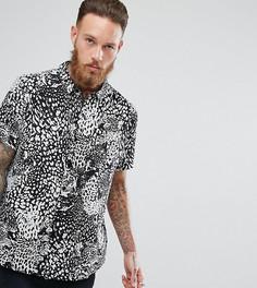 Рубашка с принтом леопарда Rollas Bon - Черный Rollas