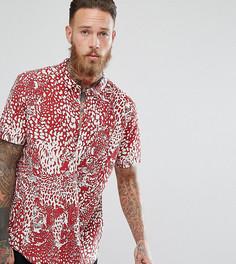 Рубашка с короткими рукавами и принтом Rollas Bon - Красный Rollas