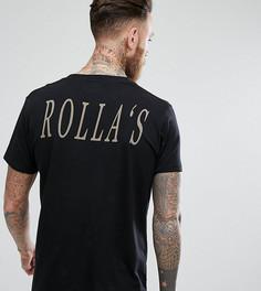 Футболка с принтом на спине Rollas - Черный Rollas