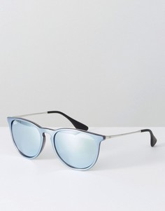Серебристые солнцезащитные очки Ray Ban Erica - Серебряный