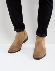 Замшевые деконструированные ботинки табачного цвета Frank Wright - Рыжий