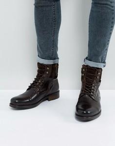 Коричневые ботинки на шнуровке ALDO - Коричневый