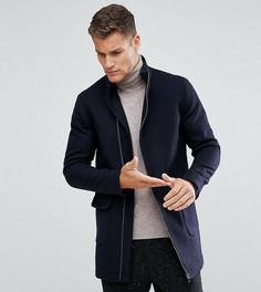 Пальто с асимметричным воротником-стойкой Noak - Темно-синий