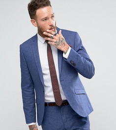 Приталенный пиджак с добавлением льна Heart & Dagger Wedding - Синий