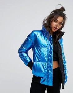 Дутая куртка с эффектом металлик Calvin Klein Jeans - Синий