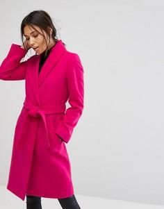 Легкое пальто с запахом Gianni Feraud - Розовый