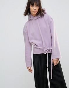 Oversize-свитшот с люверсами House Of Sunny - Фиолетовый