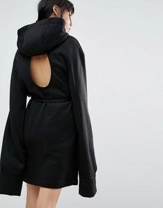 Длинное платье с капюшоном House Of Sunny - Черный