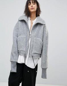 Плюшевая куртка House Of Sunny - Серый