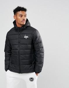 Черная дутая куртка Hype - Черный