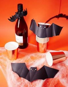 Бумажные стаканы с отделкой металлик для горячих и холодных напитков Meri Meri Halloween - Мульти