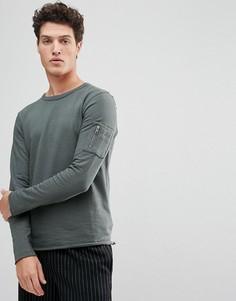 Свитшот с рукавами реглан Selected Homme - Серый