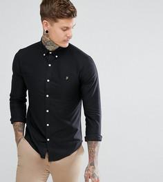 Черная приталенная оксфордская рубашка на пуговицах Farah - Черный