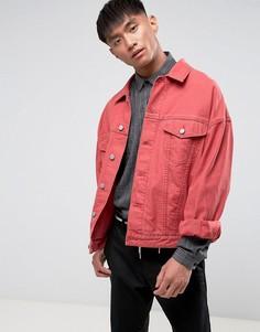 Красная джинсовая оверсайз-куртка ASOS - Красный