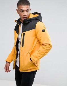 Дутая куртка с капюшоном Jack & Jones - Желтый