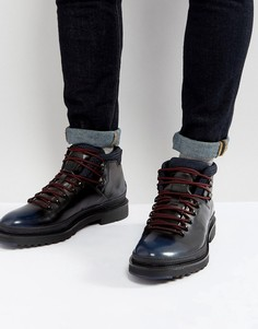 Кожаные ботинки на шнуровке HUGO by Hugo Boss - Черный