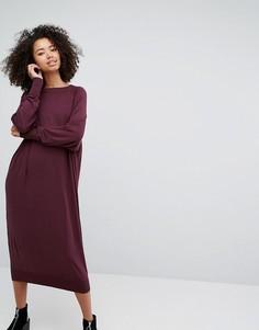 Платье-джемпер миди Monki - Красный