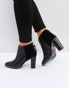 Черные кожаные ботильоны на каблуке Ted Baker Azaila - Черный