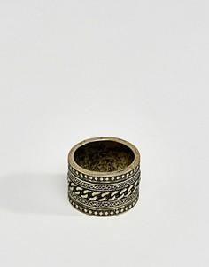 Золотистое кольцо ASOS - Золотой