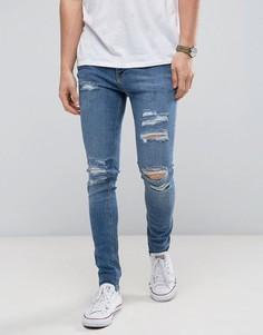 Рваные джинсы скинни Jack & Jones Intelligence - Синий