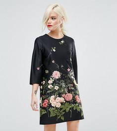 Свободное платье с цветочным принтом ASOS PETITE - Мульти