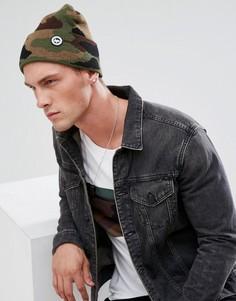 Камуфляжная шапка-бини Hype - Зеленый