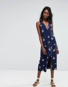 Платье с перекрученной отделкой Majorelle - Темно-синий