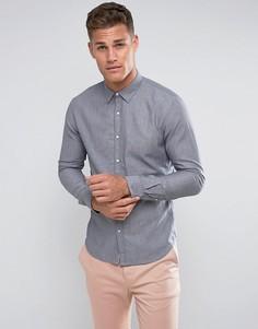 Голубая джинсовая рубашка приталенного кроя Tom Tailor - Синий