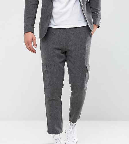 Укороченные зауженные брюки с карманами карго Only & Sons - Серый
