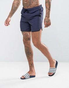 Темно-синие шорты для плавания средней длины ASOS - Темно-синий