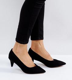 Остроносые туфли с каблуками-рюмочками для широкой стопы ASOS SOUTHERN - Черный