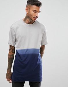Длинная футболка с необработанными краями ASOS - Серый