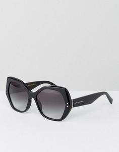 Большие черные солнцезащитные очки кошачий глаз Marc Jacobs - Черный