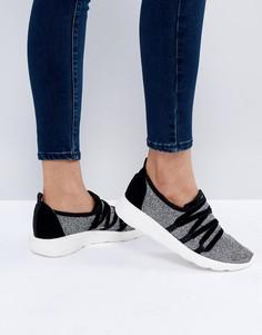 Кроссовки из бархата со шнуровкой New Look - Серебряный