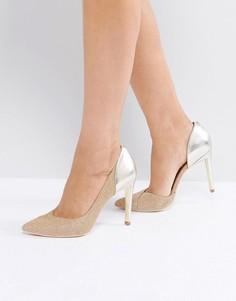 Туфли на высоком каблуке с золотистой вставкой Ted Baker - Золотой