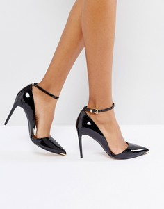 Туфли на высоком каблуке с ремешком на щиколотке Ted Baker - Черный