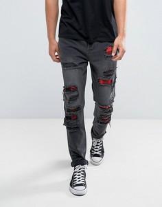Черные состаренные джинсы скинни Cayler & Sons - Черный