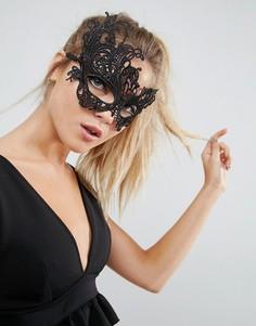 Кружевная маска ASOS Halloween - Черный