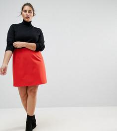 Мини юбка-трапеция ASOS CURVE - Красный