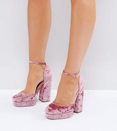 Туфли на платформе для широкой стопы ASOS PING - Розовый