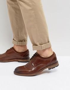 Кожаные туфли коньячного цвета Steve Madden - Коричневый