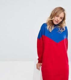 Платье-свитшот в стиле колор блок Monki - Мульти