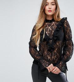 Кружевная блузка ASOS TALL - Черный