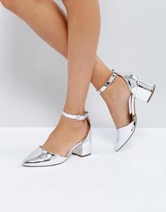 Туфли на блочном каблуке Call It Spring Trivio - Серебряный