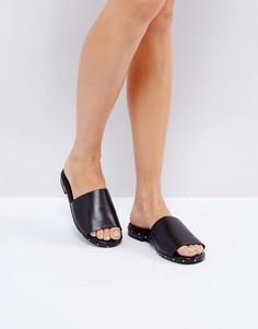 Кожаные сандалии с заклепками ALDO Payge - Черный